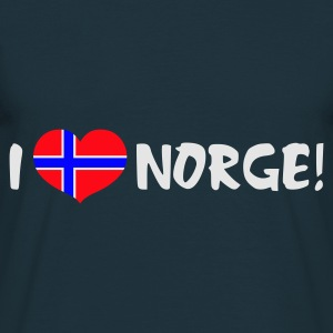 Navy I Heart Norway   Aprons - Men's T-Shirt