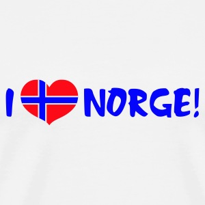 White I Heart Norway Jumpers  - Men's Premium T-Shirt