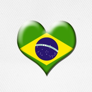 Brazil Heart Flag - Baseball Cap