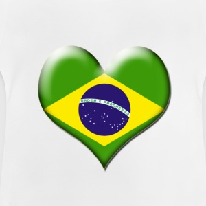 Brazil Heart Flag - Baby T-Shirt