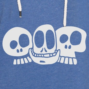 Sky Blue The Skulls Baby - Let sweatshirt med hætte, unisex