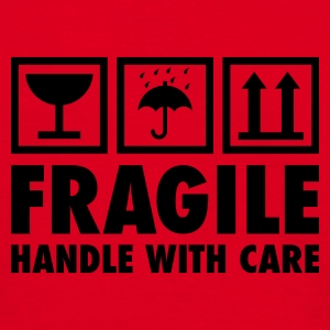 Rot fragile - handle with care Pullover - Männer T-Shirt