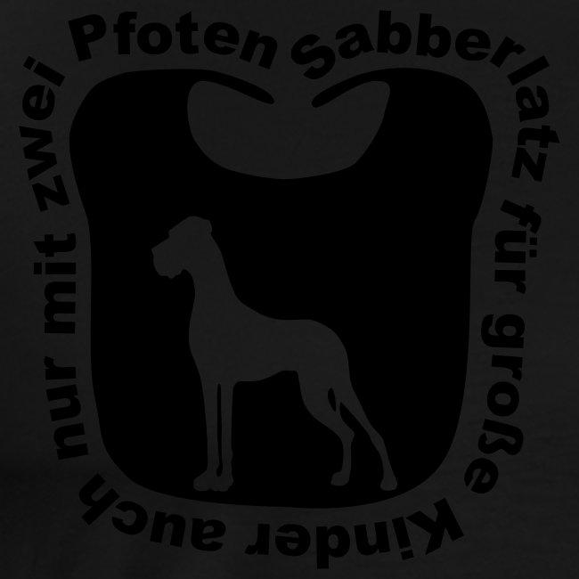 Sabberlatz für Menschen / ton in ton = Super Effekt!!!