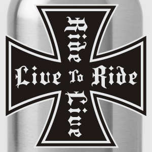 Black live to ride Hoodie Jacket - Trinkflasche