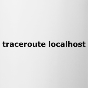 Hvid traceroute localhost T-shirts - Kop/krus