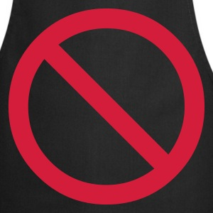 Black no - prohibited - not allowed - stop Men's Tees - Cooking Apron