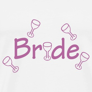 White Bride (wedding, honeymoon) Bags  - Men's Premium T-Shirt