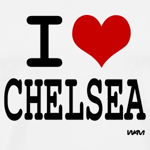 Blanc i love chelsea by wam Badges - T-shirt Premium Homme