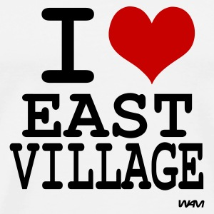 Blanc i love east village by wam Badges - T-shirt Premium Homme