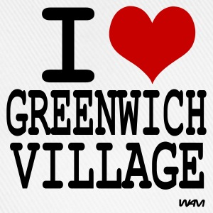 Blanc i love greenwich village by wam Badges - Casquette classique