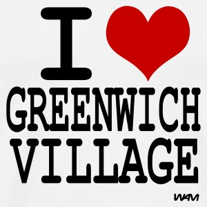 Blanc i love greenwich village by wam Badges - T-shirt Premium Homme