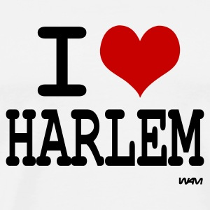 Blanc i love harlem by wam Badges - T-shirt Premium Homme