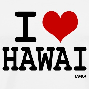 Blanc i love hawai by wam Badges - T-shirt Premium Homme