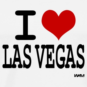 Blanc i love las vegas by wam Badges - T-shirt Premium Homme