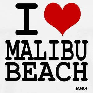Blanc i love malibu by wam Badges - T-shirt Premium Homme