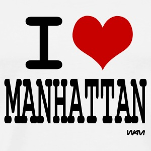 Blanc i love manhattan by wam Badges - T-shirt Premium Homme