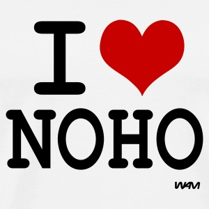 Blanc i love noho by wam Badges - T-shirt Premium Homme