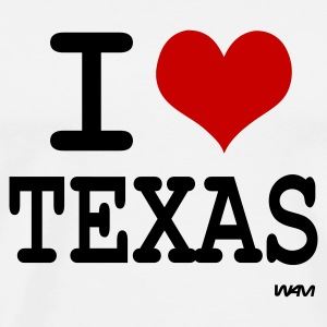 Blanc i love texas by wam Badges - T-shirt Premium Homme