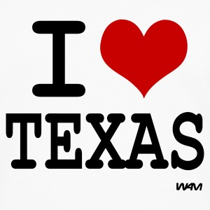 Blanc i love texas by wam Badges - T-shirt manches longues Premium Homme