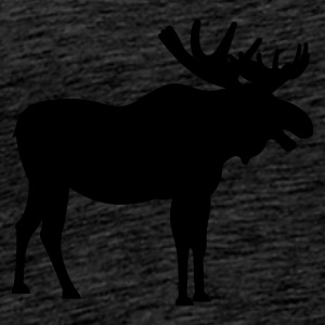 Brown snowy_moose Jumpers - Men's Premium T-Shirt