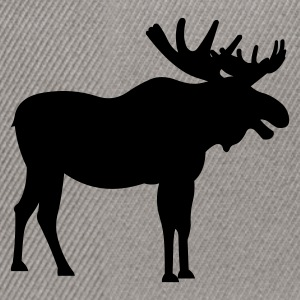 Brown snowy_moose Jumpers - Snapback Cap