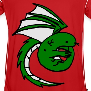 Red dragon - lindworm - fairy tale Kid's Tops - Men's Football Jersey