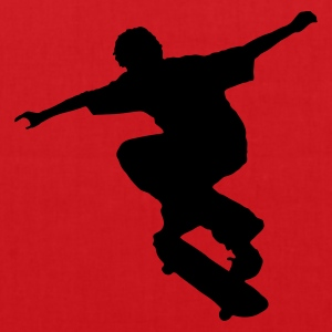 Red Skater - Skateboard - Skating Kid's Shirts  - Tote Bag