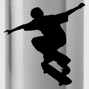Red Skater - Skateboard - Skating Kid's Shirts  - Water Bottle