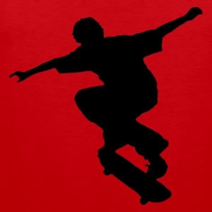 Red Skater - Skateboard - Skating Men's Tees - Men's Premium Tank Top