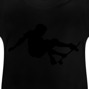 Black Skater - Skateboard - Skating Kid's Shirts  - Baby T-Shirt