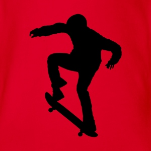 Red Skater - Skateboard - Skating Kid's Shirts  - Organic Short-sleeved Baby Bodysuit