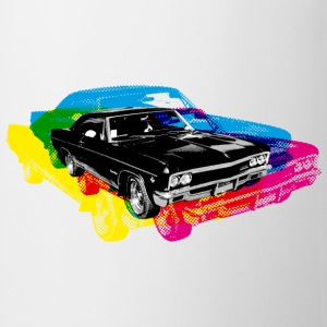 Blanc Muscle Car - Retro - CMYK T-shirts - Tasse