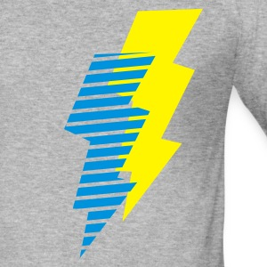 Grau meliert blitz - flash - power - electro Pullover - Männer Slim Fit T-Shirt