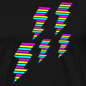 Schwarz tri color flash blitz electro power Pullover - Männer Premium T-Shirt