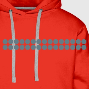 Red retro - pixel - line Men's Tees - Men's Premium Hoodie