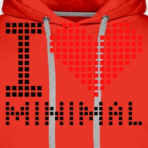Rood/wit I heart - Minimal - Electro T-shirts - Mannen Premium hoodie