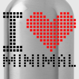 Rood/wit I heart - Minimal - Electro T-shirts - Drinkfles