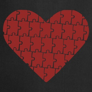 Black Puzzle - Heart - Love Jumpers  - Cooking Apron
