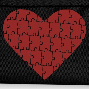 Black Puzzle - Heart - Love Jumpers  - Kids' Backpack