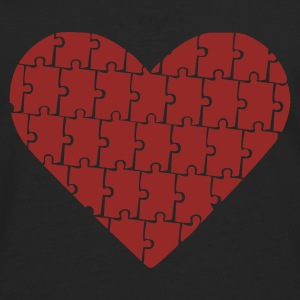 Black Puzzle - Heart - Love Jumpers  - Men's Premium Longsleeve Shirt