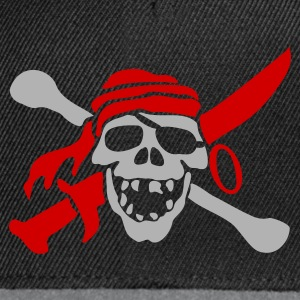 Zwart Pirateskull Kinder shirts - Snapback cap