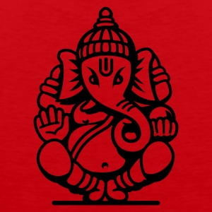 Orange/blau Ganesha Elefant (elephant) No.04.2_1c T-Shirts - Männer Premium Tank Top