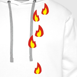 Sand/charcoal Fire - Flame - Hot - Burn Men's Tees - Men's Premium Hoodie