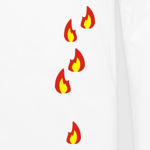 Sand/charcoal Fire - Flame - Hot - Burn Men's Tees - Men's Premium Longsleeve Shirt