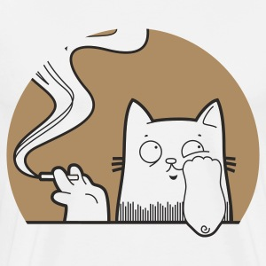 sadcat with cigarette - Männer Premium T-Shirt