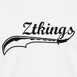 White ZTKings Jumpers - Men's Premium T-Shirt