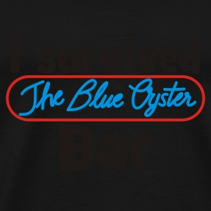 Navy I survived the Blue Oyster Bar Regenschirm - Männer Premium T-Shirt