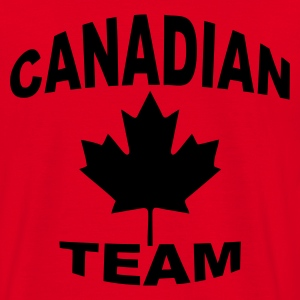 Rouge canadian team Sweatshirts - T-shirt Homme