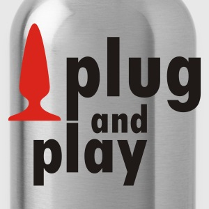 Schwarz Plug and Play T-Shirts - Trinkflasche