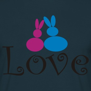 Love Rabbits - Männer T-Shirt